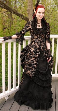 from 'dreadnought'. love the brocade jacket and the bustle.
