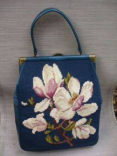Vintage Purses, Vintage Bags, Vintage Handbags, Vintage Floral, Embroidery Bags, Vintage Embroidery, Beaded Purses, Beaded Bags, Diy Sac