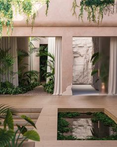 glimpse into the overgrown environments envisioned by paul milinski Dream Home Design, My Dream Home, House Design, Exterior Design, Interior And Exterior, Architecture Design, Green Architecture, Future House, Outdoor Spaces