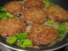Mackerel Patties - fancier than what daddy makes, but Tasty Goodness!