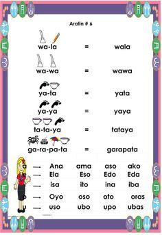 Gabay sa Pagbabasa Para sa Kindergarten at Unang Baitang ARALIN 6 Reading Worksheets, Alphabet Worksheets, Preschool Worksheets, Wh Questions, This Or That Questions, 100 Number Chart, Family Budget, Cvc Words, Kindergarten Reading