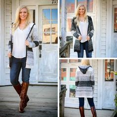 It is FINALLY getting cool enough for these adorable sweater cardigans! Luckily we have a couple left for you procrastinators! S.M.L $35 #lubellas #bvilleboutiquedistrict #fashionista #outfitoftheday #fallfashion