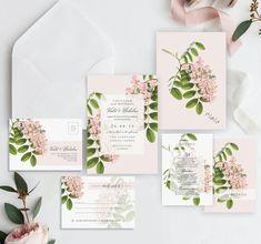 New Wedding Invitation Line Added #etsy shop: JESSICA | Modern Botanical Wisteria Wedding Invitations, Wedding Invites, Wedding Invite, Wedding Invitation Floral, Botanics - Sample Set http://etsy.me/2CnJykh #weddings #invitation #weddinginvite #weddinginvitat