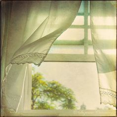 breezes. blowing. curtains.