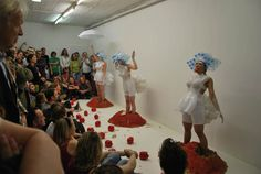 'The Modern Dreamer' wearable sculpture installation and performance by Marie Brenneis