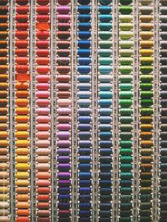 Sewing threads multicolored background. by Eduard Bonnin Sewing Room Storage, Yarn Storage, Thread Storage, Fashion Design Books, Shade Card, Creative Fashion Photography, Machine Embroidery Thread, Fabric Names, Wedding Beauty