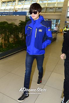Lee Min Ho Leaves for Australia for Outdoor Brand Photo Shoot, 'Casual Airport Fashion'