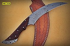 REG-HK-210, Handmade 10.40 Inches Full Tang Damascus Steel Bowie Knife - Beautiful Rose Wood Handle -- To view further for this item, visit the image link.