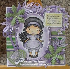 Cards created by Marianne: Sending you hugs and kisses....