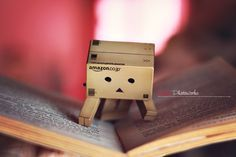 Danbo's Reading by *brenditaworks on deviantART Danbo, Cute Toys, Anime Art Girl, Plushies, Action Figures, Japanese, Deviantart, Reading, Photography