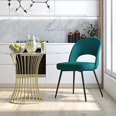 New CosmoLiving by Cosmopolitan CosmoLiving Alexi Upholstered Dining, Emerald Green Velvet Chair. blue velvet dining chairs ($129.99) from top store lovehomedecorideas