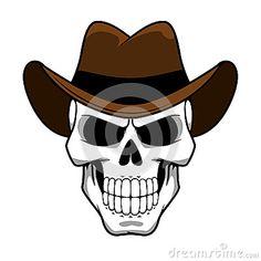 cowboy-skull-character-brown-felt-hat-spooky-classic-cartoon-style-tattoo-halloween-party-t-shirt-design-55713840.jpg (400×400)