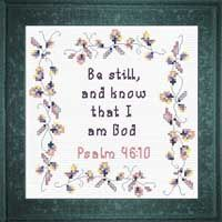 Be Still - Psalm 46:10 Cross Stitch Designs, Cross Stitch Patterns, Psalm 46, Friendship Gifts, Joyful, Baby Gifts, Bible Verses, Encouragement, Frame