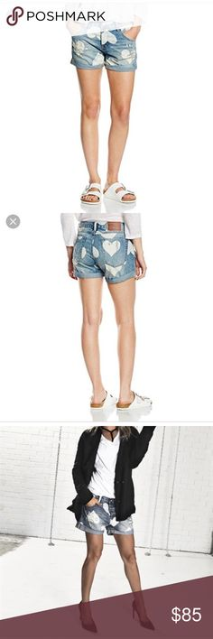 One Teaspoon Cupid Chargers One Teaspoon Cupid Chargers size 27. 15 inches across waist 9 inch rise 3 inch inseam. NWT One Teaspoon Shorts Jean Shorts