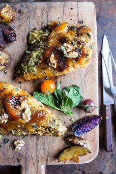 Brie-stuffed chicken