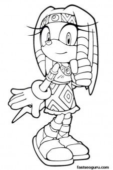 printable sonic the hedgehog tikal coloring in sheets printable coloring pages for kids - Sonic The Hedgehog Coloring Pages
