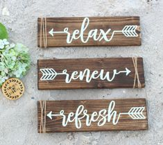 Relax sign Relax Renew Refresh Relax Refresh Renew
