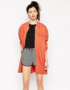 Monki Long Line Bomber Jacket at asos.com #jacket #offduty #covetme #monki #asos