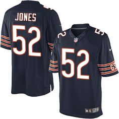 Youth Nike Chicago Bears #52 Christian Jones Limited Navy Blue Team Color NFL Jersey