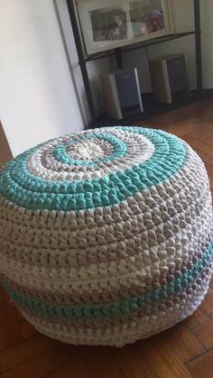 puff tejido a mano (crochet totora artesanal)