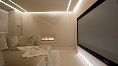 palest shades - luxurious home cinema - Lawson Robb - Architecture and Interior Design