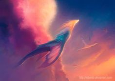 great example of a more etheric type of dragon...I think they only exist on the astral plane any longer.