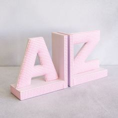 Redcurrent - Chambray A to Z Bookends | Redcurrent - online, homewares, gifts for women, Ecoya, New Zealand
