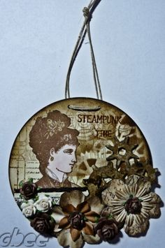 """** Make Altered Art  """"Steampunk Style""""  Using A Recycled CD @cbeecardsandmore"""