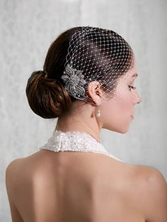 Hey, I found this really awesome Etsy listing at https://www.etsy.com/listing/178277701/bridal-veil-and-bridal-comb-bandeau