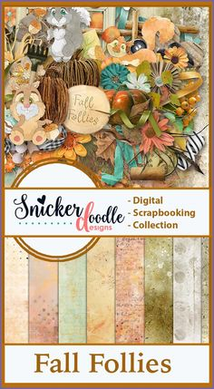 """Capture the whimsey of the season, while adding rustic charm to your digital scrapbook pages, when you use """"Fall Follies"""" to scrap your memories. #SnickerdoodleDesigns  #digitalscrapbooking #FallFollies  https://snickerdoodledesignsbykaren.com/shop/index.php?main_page=advanced_search_result&search_in_description=1&keyword=sd-fall-follies"""