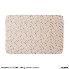 Peach Gold Confetti Dots Bathroom Mat