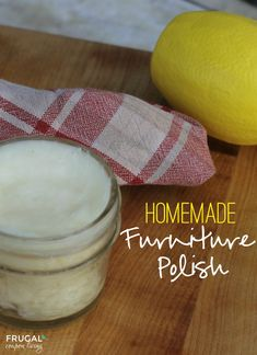 Homemade Furniture Polish - Clean Ingredients In Your Home.  This DIY Furniture Polish using ingredients found in your home. Details on Frugal Coupon Living.