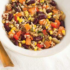 Riz frit à la mexicaine Rice Recipes, Mexican Food Recipes, Vegan Recipes, Ricardo Recipe, Mexican Style, Couscous, Chipotle, Fried Rice, Cobb Salad
