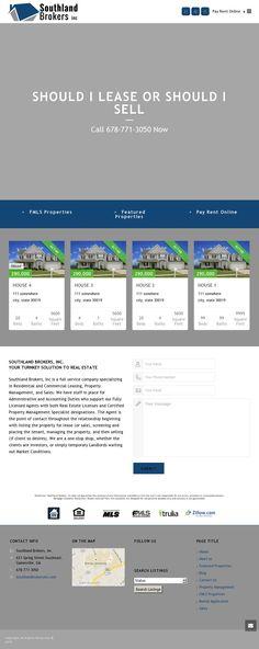 Portfolio Web Design, Property Search, Website