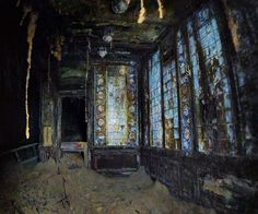 The Titanic ruins - the Turkish Bath was one of the most well-preserved areas in the first-class spa at the bottom of the Atlantic.