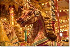 orange-esque carousel horse