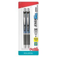 Pentel Energel Rollergel Pens, 0.7mm, 2ct - Black
