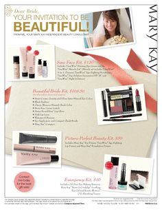 bridal letter Mary Kay http://www.marykay.com/wwinsor. Call or text me at 802-353-7939
