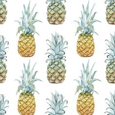 """Pineapple Purist Removable 5' x 20"""" Wallpaper"""