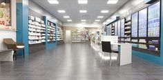 Rowa in der Apotheke im Quadrat, Kamen Pharmacy Store, Pharmacy Design, Store Design, Architecture Design, Furniture, Home Decor, Pharmacy, Apothecaries, Architecture Layout