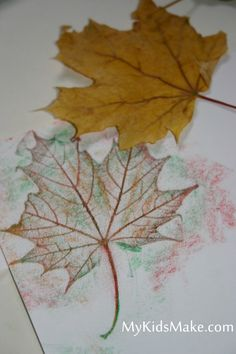 Fall leaf rubbings- I always loved doing this as a kid!