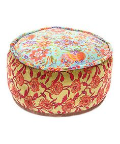 Love this Paradise Velvet Pouf by Karma Living on #zulily! #zulilyfinds