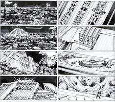 Blade Runner (1982)  Director: Ridley Scott  Storyboard Artist: Tom Cranham