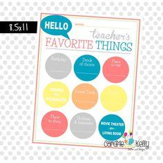 Teacher templates letters parents sample letters teacher gift instant download printable get to know your teacher questionaire survey spiritdancerdesigns Images