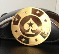Poker Cards Guard Protector,Metal Token Coin with Plastic Cover Metal Chip Poker Stars Gold Color coin,1pcs/lot Free shipping