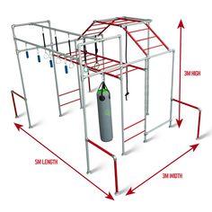 Ninja Warrior Gym, Crash Mat, Ninja Training, Double Swing, Bungalow Renovation, Outdoor Gym, Play Equipment, Backyard Playground, Stainless Steel Screws