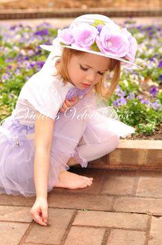 EASTER BONNET Tea party Hat Lush Floral by VioletsVelvetBox