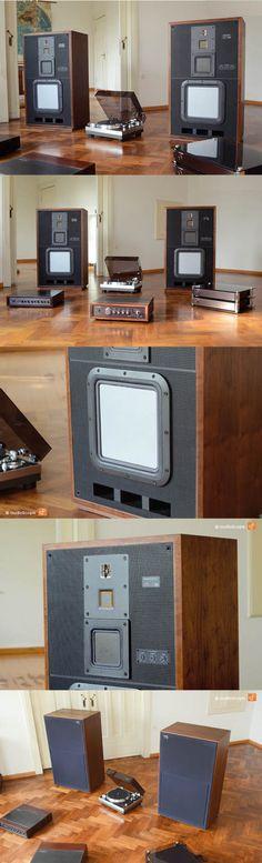 1979 Sony / speaker / high-end / wood -> Link in bio for something really special! Sony Speakers, High End Speakers, Audiophile Speakers, High End Audio, Homemade Speakers, Sony Electronics, Audio Music, Tape Recorder, Speaker Design