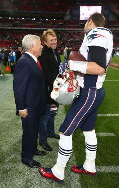 Patriots- Robert Kraft, Tom Brady & Jon Bon Jovi - I'm in heaven!