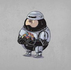 Fat Pop Culture Illustration   Artist: Alex Solis